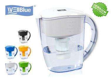 BPA Free Plastic Alkaline Yah Blue Water Filter Pitcher 3.5L Multi Coloured Tersedia