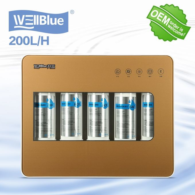 5 tahap undersink UF alkali air filter mesin Alkaline Water filter cartridge